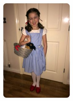 Home made Dorothy wizard of oz world book day costume fancy dress                                                                                                                                                                                 More