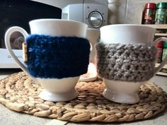 Cup cozy by fotinislittlecrochet..love them.. find it on etsy fotinislittlecrochet