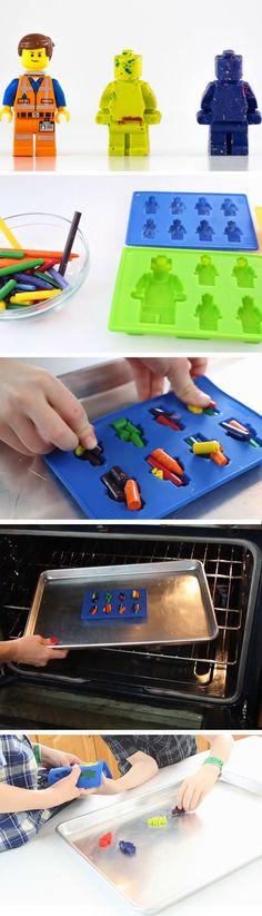 Lego Birthday Party Ideas for Boys - Batman Party - Ideas of Batman Party - Lego Crayons Crayon Birthday Parties, Lego Birthday Party, Boy Birthday, 5th Birthday Ideas For Boys, Lego Party Favors, Fourth Birthday, Cake Birthday, Lego Ninjago, Ninjago Party