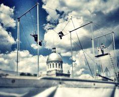 July Cirque Carpe Diem at Parc Jean-Drapeau Carpe Diem, Aerial Arts, July 7, New Hobbies, Clouds, Outdoor, Outdoors, The Great Outdoors, Cloud