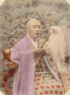 Buddhist Priest , circa 1898, by photographer  Kusakabe Kimbei