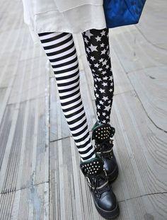 Stripe Star Print Slimming High Elasticity Women's Leggings Leggings | RoseGal.com Mobile