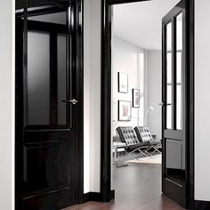 Black Interior Doors - Dramatic Or Conventional? When you need a truly dramatic, dramatic look, nothing is more dramatic than the use of black interior doors. Black doors give you the kind of feel that . House Design, Black Interior Doors, Interior Design, House Interior, Home, Interior Trim, House, Interior, White Walls