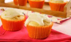 Muffin de limão com falso fondant