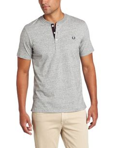 Fred Perry Men's Henley T-Shirt, Vintage Steel « Impulse Clothes