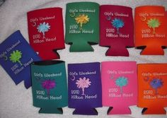 embroidered coozies from Etsy...SUCH a cute idea for a girl's weekend!