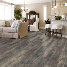 Luxury vinyl plank flooring to fit any room in your home. Our easy to install luxury vinyl floors come in tile, plank and vinyl sheet flooring in every style. Vinyl Wood Flooring, Grey Wood Floors, Luxury Vinyl Flooring, Wood Vinyl, Luxury Vinyl Plank, Basement Flooring, Grey Flooring, Flooring Ideas, Vinal Plank Flooring