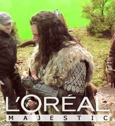 the hobbit richard armitage loreal thorin majestic GIF