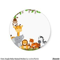 Cute Jungle Baby Animal Sticker (front side) animals silly animals animal mashups animal printables majestic animals animals and pets funny hilarious animal Baby Stickers, Cute Stickers, Safari Theme, Safari Animals, Cute Baby Animals, Creations, Clip Art, Invitations Online, Invitation Envelopes