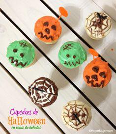 Hogar-Mujer: Cupcakes de Halloween en conos de helados