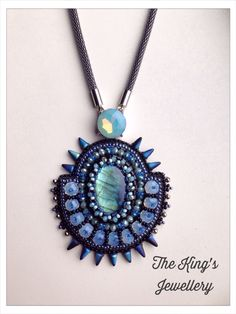 Labradorite spikey pendant By:Astrid de Koning/ The King's Jewellery