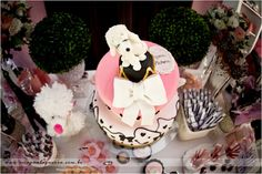 Poodle in Paris themed party