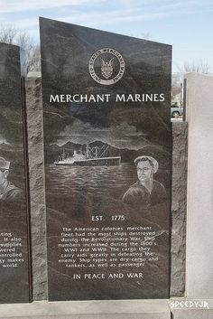 Merchant Marines Although they suffered the greatest casualty rate of any service, merchant mariners who served in World War II were denied such recognition until 1988 when a Federal Court ordered it. Marine Quotes, Marine Tattoo, Military Honors, Merchant Marine, Court Order, Prisoners Of War, Nautical Art, Tug Boats, Beach Signs