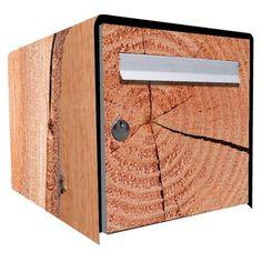 Stickers boîte aux lettres Déco Brut de bois