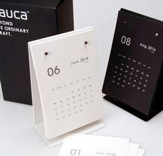Calendario de escritorio 2014 / Bloc de notas por DubuDumo en Etsy