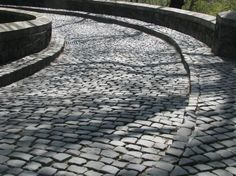 Cobblestone driveway leading to the forecourt.  Very Old World Euorpean look for 1010 GBR