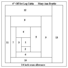 log cabin quilt instructions - Google Search