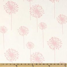 Fitted Sheet  White with Bella Pink Dandelion by DesignsbyChristyS