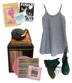 """""""WORRY."""" by kampow ❤ liked on Polyvore featuring Floyd and Dr. Martens"""