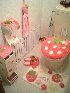 I love this design for a little girls bathroom! I love this design for a little girls bathroom! Cute Room Ideas, Cute Room Decor, Room Ideas Bedroom, Bedroom Decor, Kawaii Bedroom, Otaku Room, Pretty Room, Cute House, Home Decor Ideas