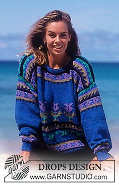 "DROPS 29-23 - DROPS jumper with Inca pattern in ""Paris"". - Free pattern by DROPS Design"