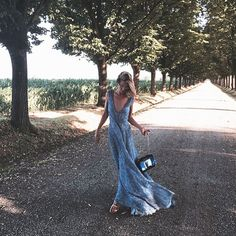 #RobertaRuiu Roberta Ruiu: It's not yet time to go back to Milan. Loving what's all around. — Fashion week... Can wait. — #ontheroad #tuscany #beauty #nature #loveit #walking #blonde #glam #girly #fashionable #road #versila #country #romantic #relax #holiday #ootd #Luisabeccaria #dress #jimmychoo #bag #shoes #mmfw
