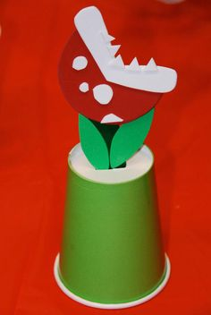 Super Mario Brothers Piranha Plant Toy Craft by SimplyAimeeS, $8.00