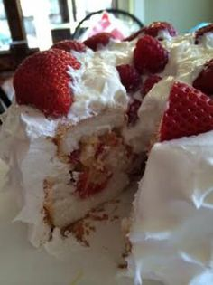 Fluffy Strawberry Lemon Cake from Moore or Less Cooking Food Blog