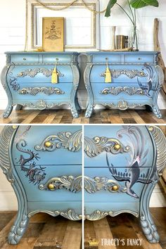 I painted these two Chinese symbols onto a pair of bombay chests that, when used together, represent a blissful marriage. #furnituretattoos Click over to the blog to learn more about the meaning and how I hand-painted each symbol. Tracey Bellion Tracey's Fancy Chinese Dragon On Furniture Phoenix on Furniture Chalk Painted Furniture Chinese Dragon Tattoo Phoenix Tattoo Chinese Furniture Oriental Furniture DIY Nightstand Chalk Paint Tutorial Chalk Paint Colors Chalk Paint Dresser, Chalk Paint Colors, Chalk Paint Furniture, Painted Dressers, Diy Dresser Makeover, Diy Nightstand, Furniture Makeover, Nightstands, Handmade Furniture
