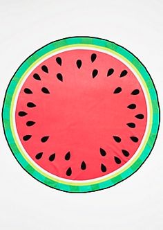 Lay claim to your patch of sand with this super soft beach towel! The absorbent fabric is perfect for drying off after catching a few waves. It's designed to look like a delicious cut watermelon. Watermelon Images, Cut Watermelon, Beach Bum, Beach Towel, Watermelon Drawing, Plus Swim, Cd Art, Learn To Draw, Painting & Drawing