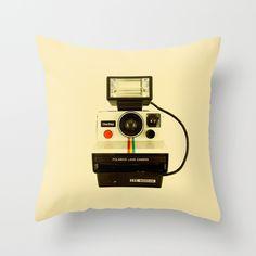 Polaroid OneStep - Land Camera Throw Pillow