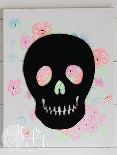 Quick craft ideas for Halloween and Día de Muertos!