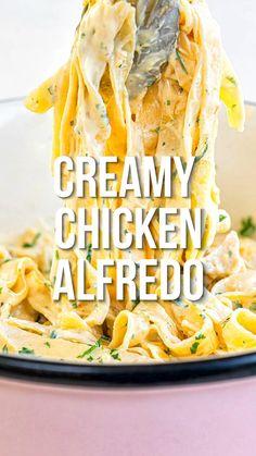 Pasta Alfredo Receta, Alfredo Recipe, Recipes With Alfredo Sauce, Alfredo Saus, Easy Chicken Fettuccine Alfredo, Salsa Alfredo, Chicken Broccoli Alfredo, Homemade Alfredo, Meal Prep