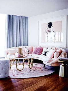 We love the moody blues and rich greens that are so on-trend in the world of interiors right now, but nothing brings a calm, light vibe to a room quite like pretty pastels.