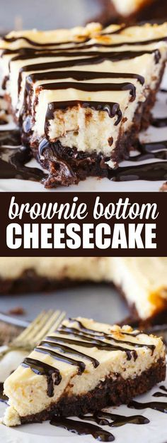 Brownie Bottom Cheesecake Brownie Bottom Cheesecake – So easy to make that you'll feel like you are cheating! Enjoy the rich chocolate brownie bottom layer topped with a creamy and sweet cheesecake filling. Use a brownie mix to save on time! Cheesecake Cupcakes, Easy Cheesecake Recipes, Brownie Cheesecake, Pumpkin Cheesecake, Brownie Toppings, Brownie Mix Desserts, Brownie Mix Recipes, Chocolate Cheesecake Recipes, Classic Cheesecake