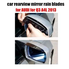 New 2x Rearview Mirror Rain Shade Rainproof Blades Car Back Mirror Rain Cover Ef