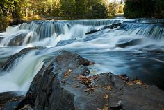 Bond Falls – Upper Cascades Area | Bond Falls.  State Scenic Site,  Watersmeet, Michigan (pinned by haw-creek.com)