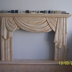 Fireplaces - Dionyssos Marble (patinated). Επενδύσεις Τζακιών Κουρτίνα - Πατιναρισμένο Μάρμαρο Διονύσου. Valance Curtains, Marble, Greek, Home Decor, Decoration Home, Room Decor, Granite, Marbles, Home Interior Design