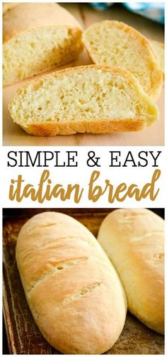 It is so easy to make Italian Bread at home with just a few simple ingredients Nothing beats a soft and crusty bread warm from the oven italianbread yeastbread bread breadrecipe breadloaves Italian Bread Recipes, Bread Recipes With Yeast, Best Crusty Italian Bread Recipe, Sliced Bread Recipes, Simple Italian Recipes, Tasty Bread Recipe, Simple Bread Recipe, Best Homemade Bread Recipe, Bagel Pizza