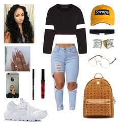 """Untitled #468"" by missmka ❤ liked on Polyvore featuring NIKE, Norma Kamali, MCM and 8 Other Reasons"