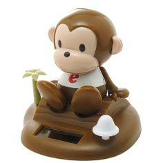 Solar Bobble Head Toy Figure Monkey By Ufindings 9 99 Solar Power Batteries Are Not Needed Material Plastic Not Recommended For Children Under 4 Years O