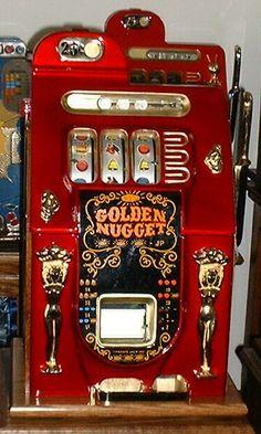 Golden Nugget vintage slot machine ... #gambling #goldennugget www.OneMorePress.com