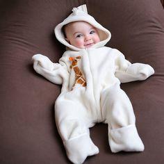 OMG - so cute!!! COZY SUIT -  IVORY GIRAFFE - ONE PIECE from #TuffKookooshka
