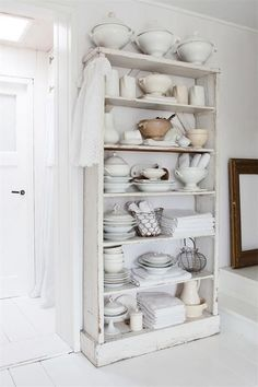 kitchen storage furniture. White Kitchen Shelves And Crockery  Winter Whites A BEAUTIFUL RENOVATED SWEDISH HOME FROM 1800 THE STYLE FILES How