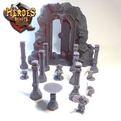 Ramsgate FINALLY printed. Is  your party ready to raid it?   #dungeonsanddragons #rpg #d20 #roleplay #nerd #geek #dice #dnd5e #roleplayinggame #tabletopgames #dungeonmaster #gaming #tabletopgaming #fantasy #wargames #gamesworkshop #warhammer #warhammer40k #miniature #coolminis #minipainting #miniatures #dnd #patreon #art #supportlivingartists #dnd #minianturednd # dndminis #3dprint #zbrush Tabletop Rpg, Tabletop Games, Dungeons And Dragons Characters, Because I Love You, D 20, Mini Paintings, Nerd Geek, Zbrush, Fantasy Creatures