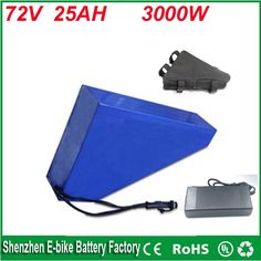 950.00$  Watch now - http://alis1d.worldwells.pw/go.php?t=32754645477 - Free customs taxes 72V 25AH lithium ion battery use Sanyo GA3500 cells and 84V charger 72V 3000W triangle electric bike battery 950.00$