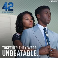 """42 The True Story of an American Legend"" (The Jackie Robinson Story) - Now playing in theaters everywhere! Go see it today!"