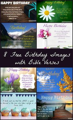 Scripture and ... Music ... Crafts ... Life: Free Birthday Images with Bible Verses