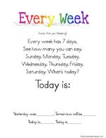 Songs (with videos) to help children learn the days of the week and the months of the year.