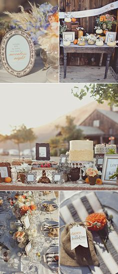 Chic rustic country wedding wedding gift tables country for Cool places to register for wedding